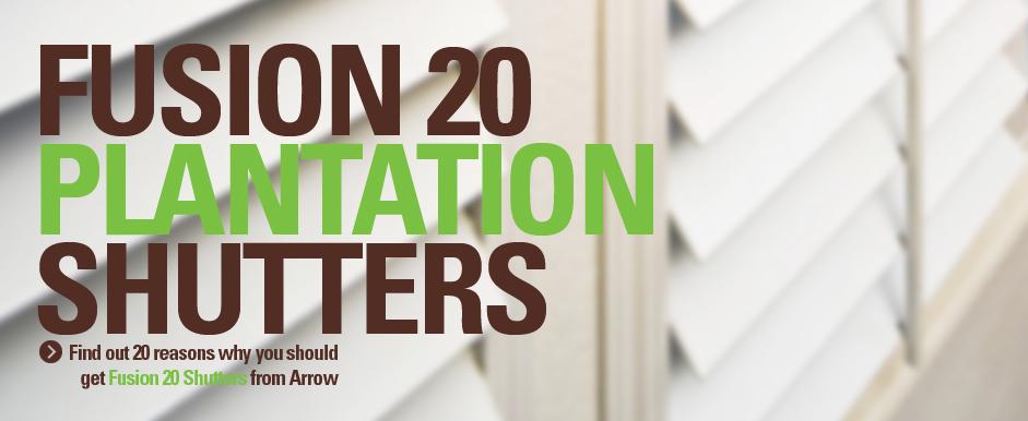 Fusion 20 Plantation Shutters